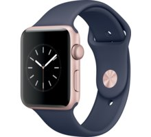 Apple Watch 2 42mm Rose Gold Aluminium Case with Midnight Blue Sport Band - MNPL2CN/A