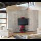 Meliconi 488070 GHOST DESIGN 2000 Držák a stolek pro TV, červená