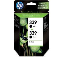 HP C9504EE černá no.339 (2 pack) – ušetřete až 20 % oproti standardní náplni