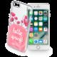 Cellularline STYLE průhledné gelové pouzdro pro Apple iPhone 7, motiv BLOOM