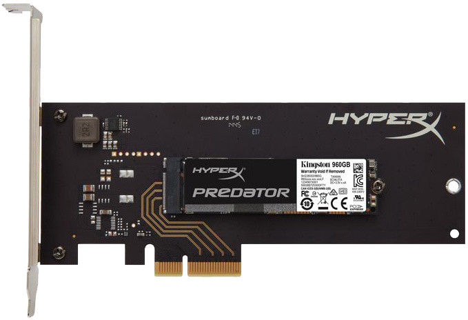 Kingston HyperX Predator, M.2 - 960GB s adapterem