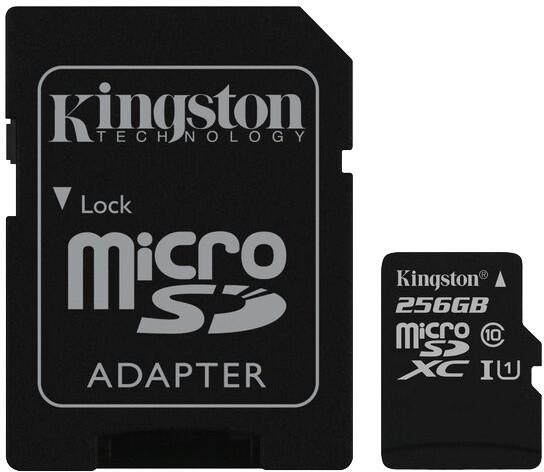 Kingston Micro SDXC 256GB Class 10 UHS-I + adaptér G2