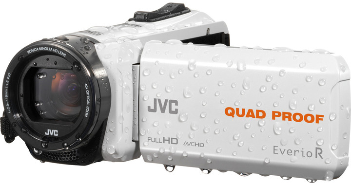 JVC GZ R435W, bílá