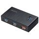 Akasa USB hub Elite 4EX, 4x USB 3.0, 1 nabíjecí port, černý
