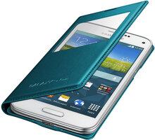 Samsung flipové pouzdro s oknem EF-CG800B pro Galaxy S5 mini, zelená - EF-CG800BGEGWW