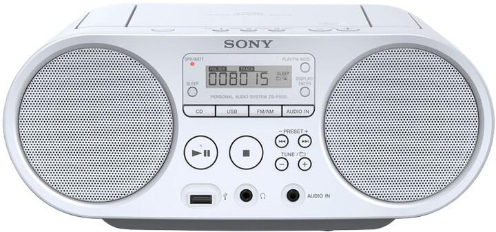 Sony ZS-PS50, bílá