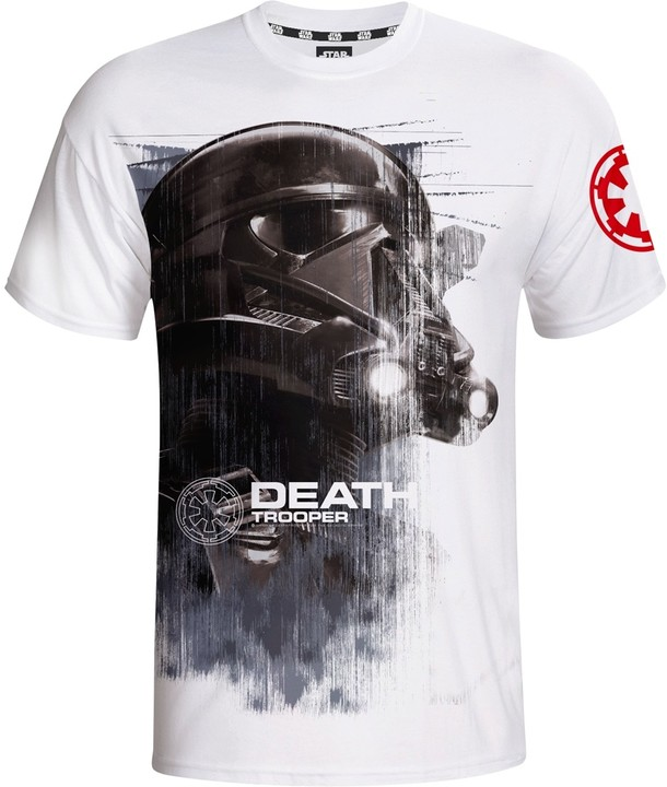Star Wars - Death Trooper, bílé (S)