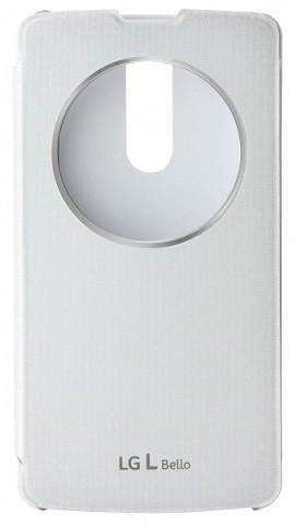 LG QuickCircle CCF-560 flipové pouzdro pro LG L Bello, bílá