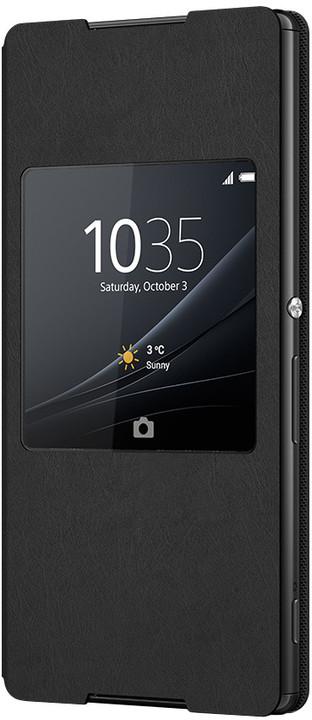 Sony SCR30 Style Cover Window pouzdro pro Xperia Z3+, černá
