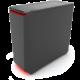 PHANTEKS Eclipse P400S, Tempered glass, černo-červená