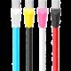 Remax Alien datový kabel s micro USB, 1m, bílo-modrá