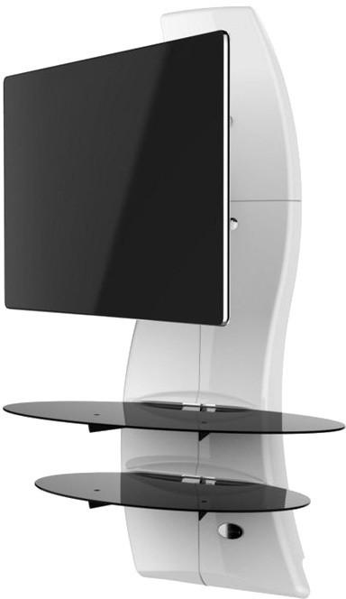 Meliconi 488087 GHOST DESIGN 2000 ROTATION Sestava pro TV a komponenty k instalaci na zeď, bílá