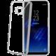 CELLY Laser - lemování s kovovým efektem TPU pouzdro pro Samsung Galaxy S8, stříbrné