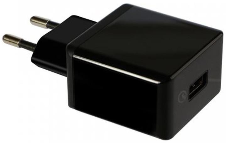 Fontastic cestovní nabíječka Nano 2.1A, Quick Charge 2.0 Class A, černá