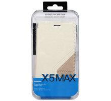 DooGee X5 MAX/X5 MAX PRO Flip Case + Screen Protector Glass, bílá - ACCDG007