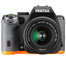Pentax K-S2 černá/oranžová + DAL 18-50 DC WR RE + DAL 50-200 WR - 13217