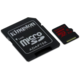 Kingston Micro SDXC 128GB Class 10 UHS-I U3 + SD adaptér