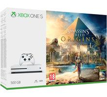 XBOX ONE S, 500GB, bílá + Assassin's Creed: Origins - ZQ9-00234 + Druhý ovladač Xbox, bílý v ceně 1400 kč