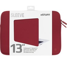 eSTUFF Macbook Air, iPad Pro 13'' Sleeve - Fits Macbook Pro, maroon - ES82250-MAROON