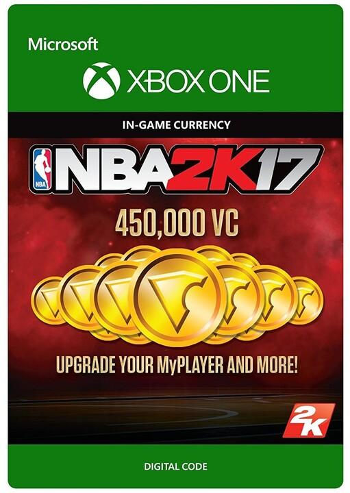 NBA 2K17 - 450,000 VC (Xbox ONE) - elektronicky