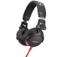 Sony MDR-V55R, červená - MDRV55R.AE + Sluchátka SONY MDR-EX15LPB, černá