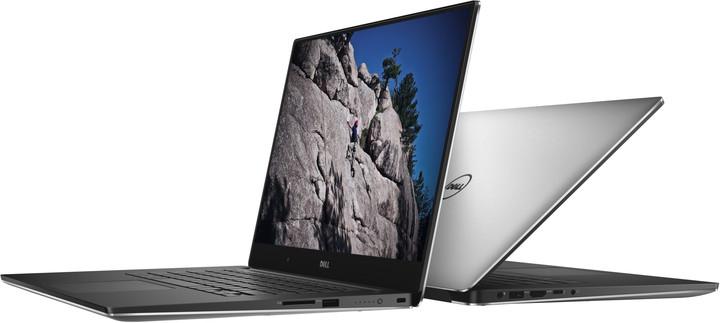 Dell XPS 15 (9550) Touch, stříbrná