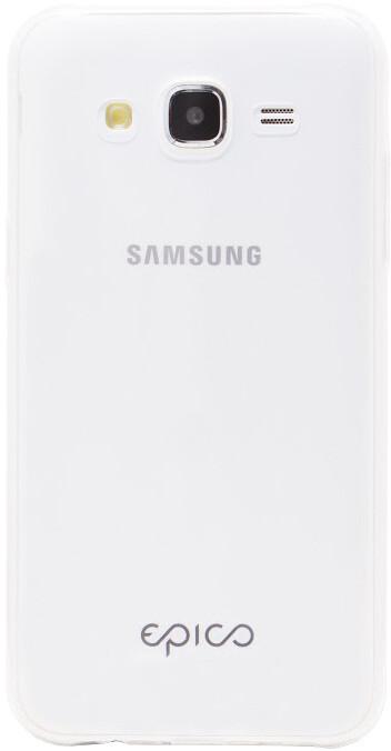 EPICO plastový kryt pro Samsung J5 RONNY GLOSS, bílá - transparentní