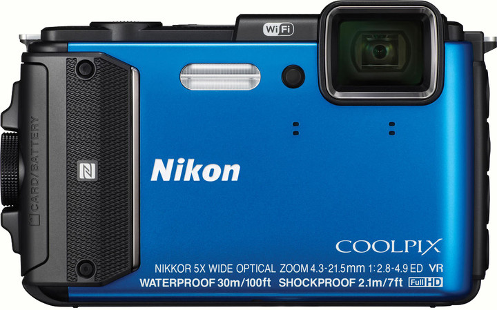 Nikon Coolpix AW130, modrá