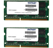 Patriot Signature Line 8GB (2x4GB) DDR3 1333 SODIMM CL 9 - PSA38G1333SK