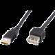 PremiumCord USB 2.0, A-A prodlužovací - 2m, černá