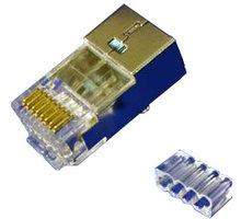 PremiumCord Konektor RJ45 stíněný, UTP Cat6, na drát AWG23, skládaný