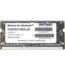 Patriot Signature Line 4GB DDR3 1600 SO-DIMM CL 11 - PSD34G1600L2S
