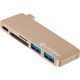 eSTUFF USB C Slot-in Hub Gold
