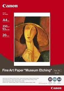 Canon Foto papír Fine Art Museum Etching FA-ME1, A4, 20 ks, 350g/m2, matný