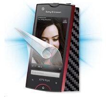 ScreenShield fólie na displej + carbon skin (černá) pro Sony Ericsson Xperia ray (ST18) - SE-RAY-CB