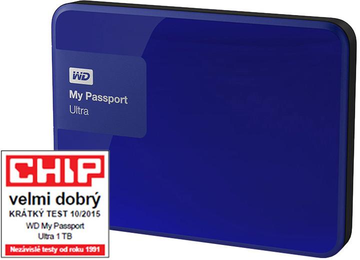 WD My Passport ULTRA - 1TB, modrá