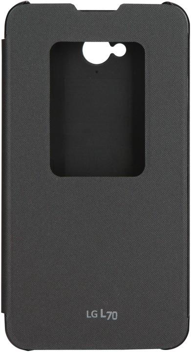 LG flipové pouzdro QuickWindow CCF-400 pro LG L70, černá
