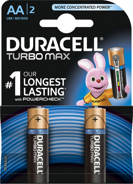 Duracell Turbo Max AA, 2ks