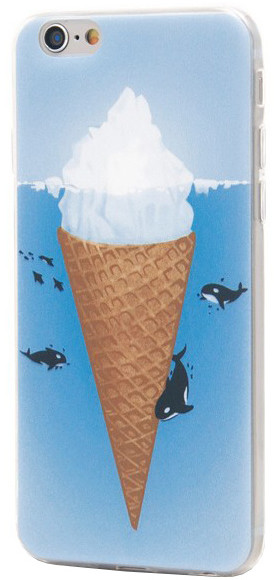 EPICO pružný plastový kryt pro iPhone 6/6S ICEBERG