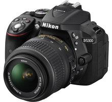 Nikon D5300 + 18-55 VR + 70-300 VR, černá - VBA370K015