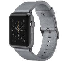 Belkin kožený řemínek pro Apple watch (42mm), šedý - F8W732btC02
