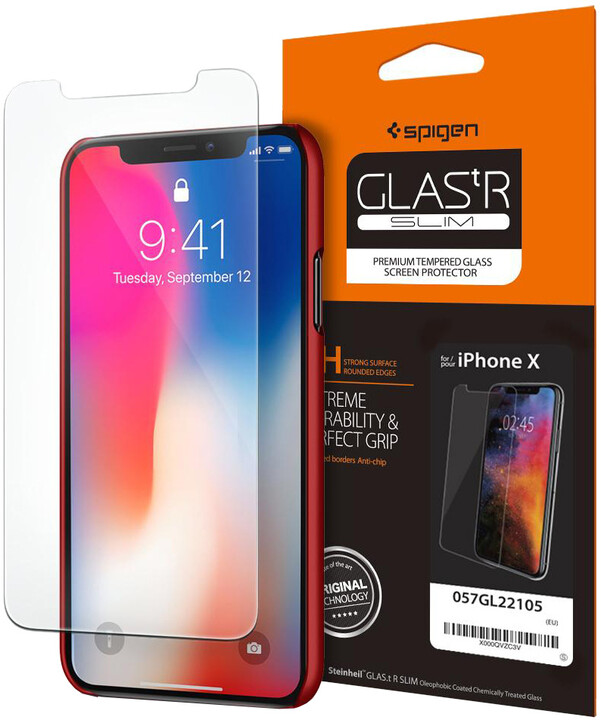 Spigen Screen Protector GLAS.tR SLIM pro iPhone X