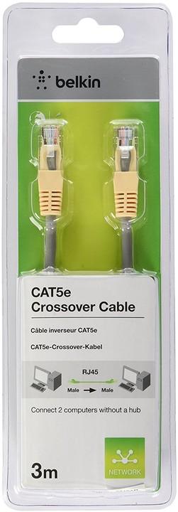 Belkin kabel PATCH UTP CAT5e CROSS 3m šedý/žlutý
