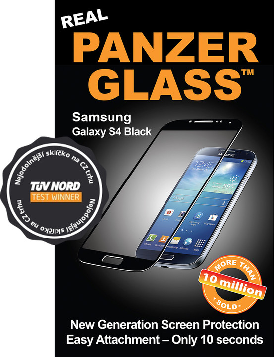 PanzerGlass ochranné sklo na displej pro Samsung Galaxy S4 černá