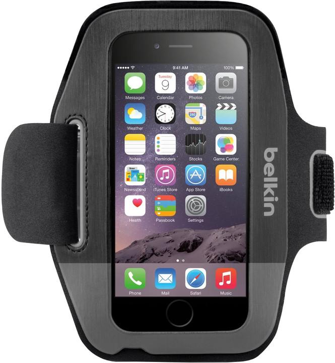 Belkin Sport Fit Armband pouzdro pro iPhone 6/6s, blacktop/gravel