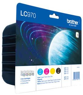 Brother LC-970 VALBP, multipack černá+C+M+Y